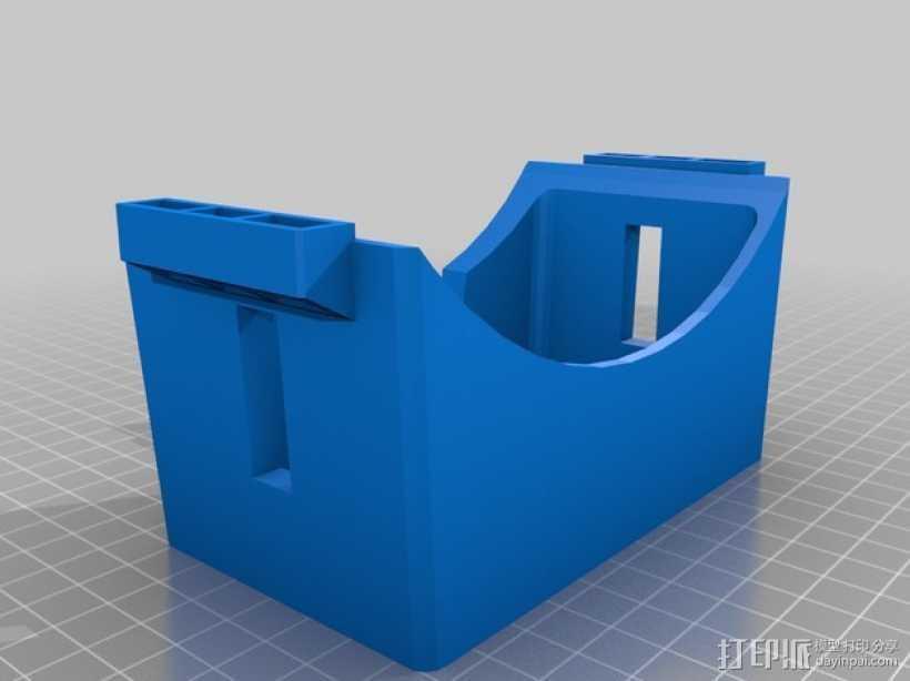 谷歌纸盒 虚拟现实眼镜 3D打印模型渲染图