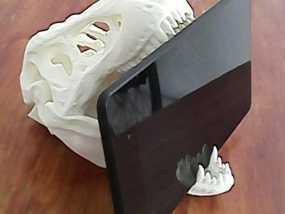 霸王龙头骨平板电脑支撑架