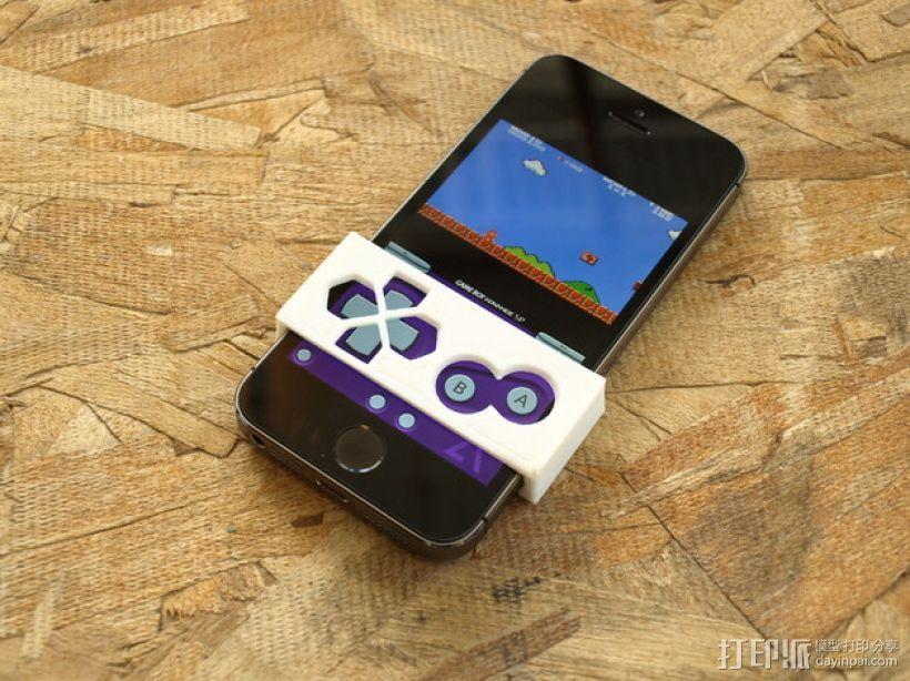 Gameboy 游戏机面板式iPhone手机壳 3D打印模型渲染图