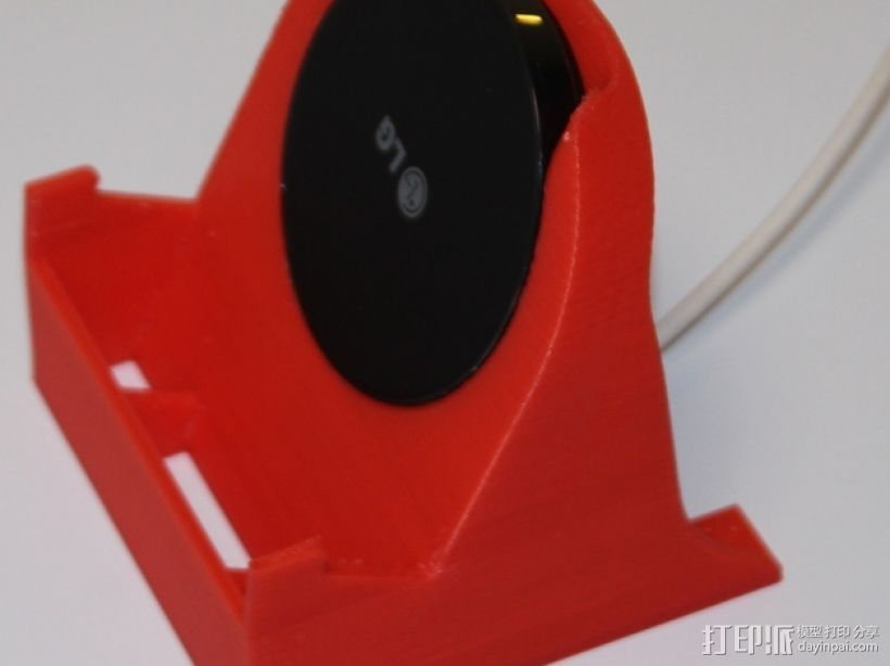 LG 手机充电座 手机架 3D打印模型渲染图