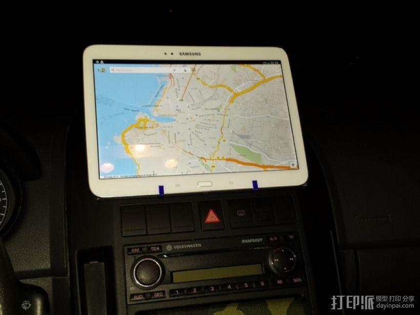 车载式三星手机支架 3D打印模型渲染图