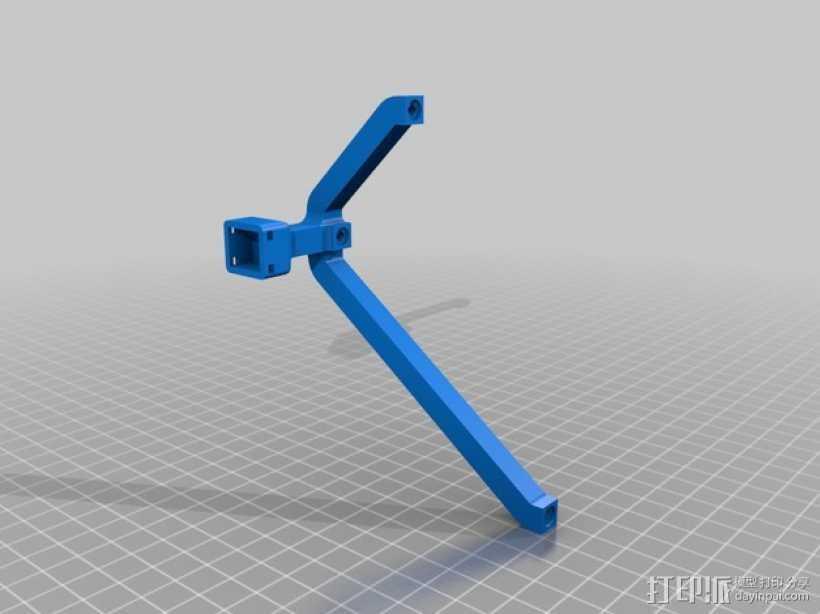 头部跟踪指示器固定架 3D打印模型渲染图