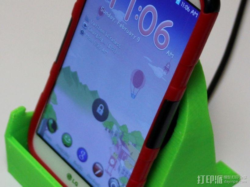 LG G2 手机充电座 3D打印模型渲染图