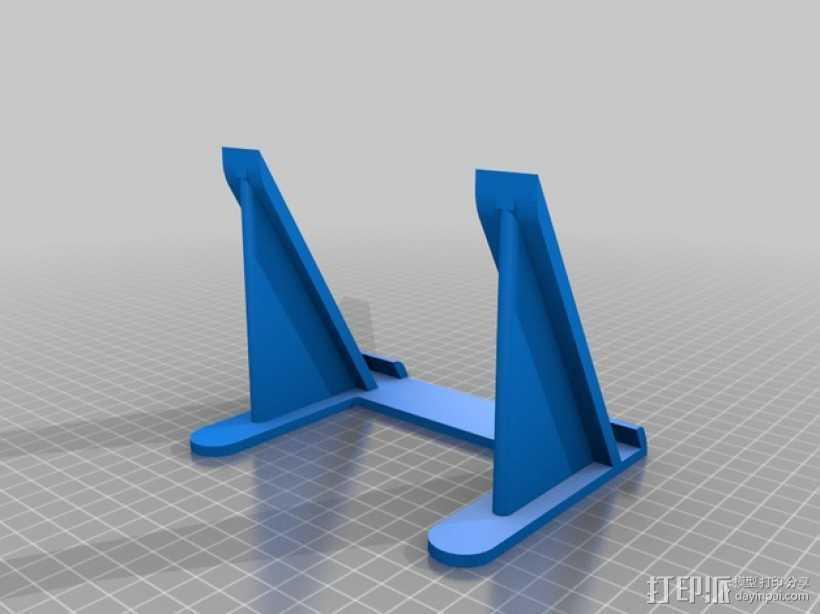 通用型平板电脑支撑架 3D打印模型渲染图