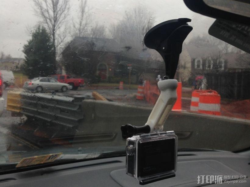GoPro相机悬挂架 3D打印模型渲染图