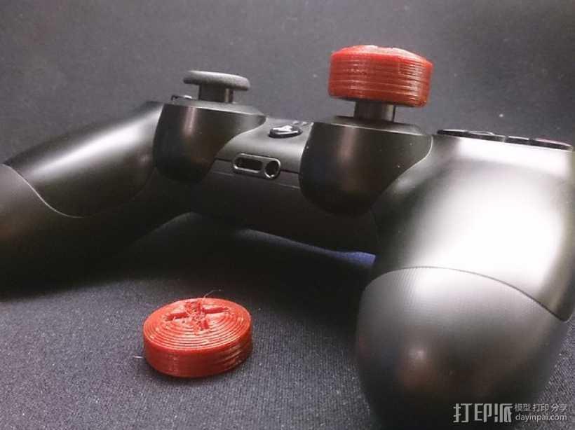 PS4游戏机手柄控制棒 3D打印模型渲染图