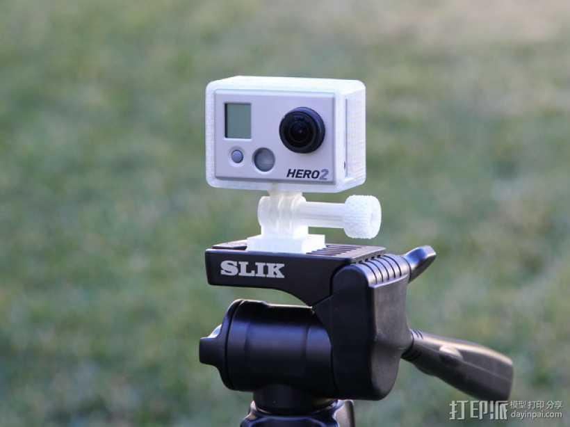 GoPro Hero2 相机三脚架连接器 3D打印模型渲染图