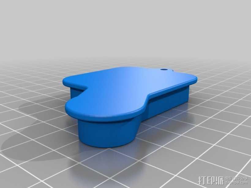 GoPro Hero 3+ 相机镜头盖 电源按钮罩 3D打印模型渲染图