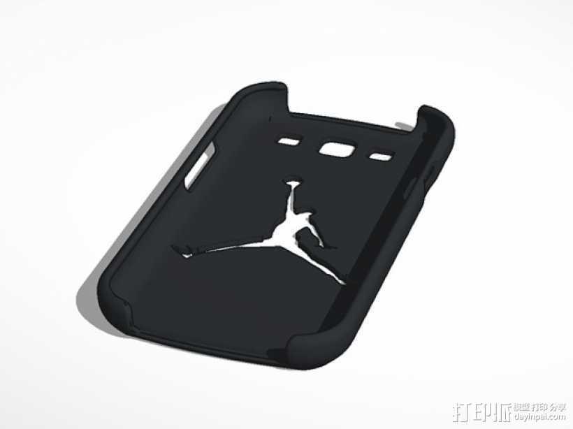 Nike Jordan 耐克乔丹标志三星Galaxy S3 手机套 3D打印模型渲染图