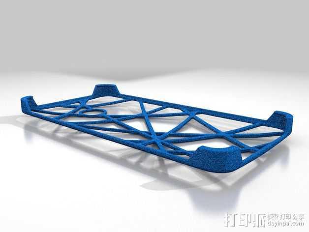 HTC ONE 手机套 3D打印模型渲染图