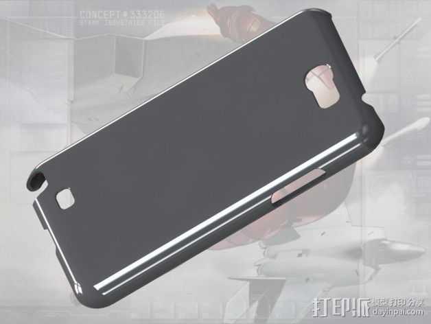 三星Galaxy Note 2 手机保护套 3D打印模型渲染图