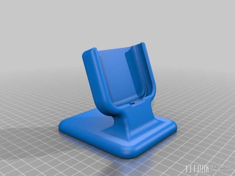 三星Galaxy S3桌面支持站架 3D打印模型渲染图