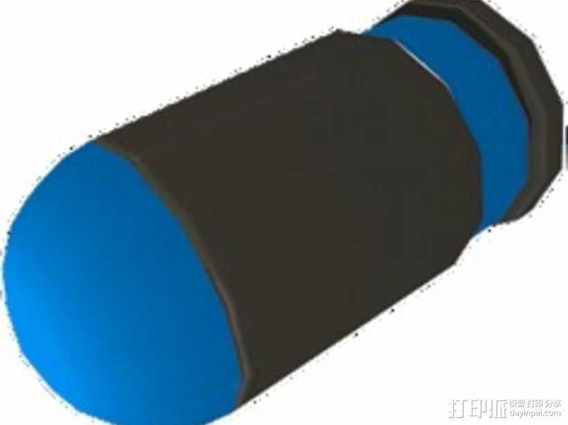 军团要塞2 手榴弹弹闸 3D打印模型渲染图