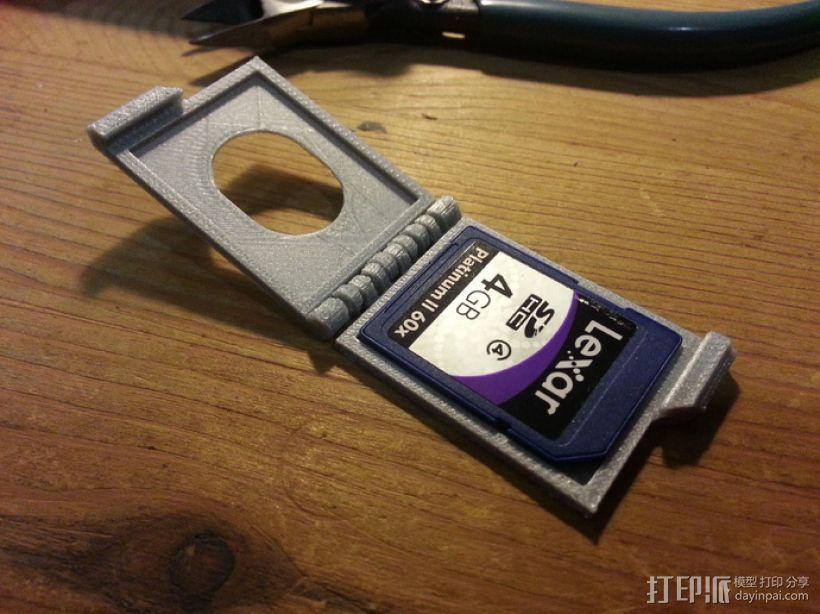 SD卡夹盒 收纳盒 3D打印模型渲染图