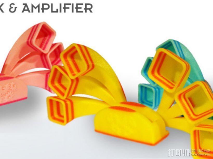 iPhone手机扩音器 3D打印模型渲染图