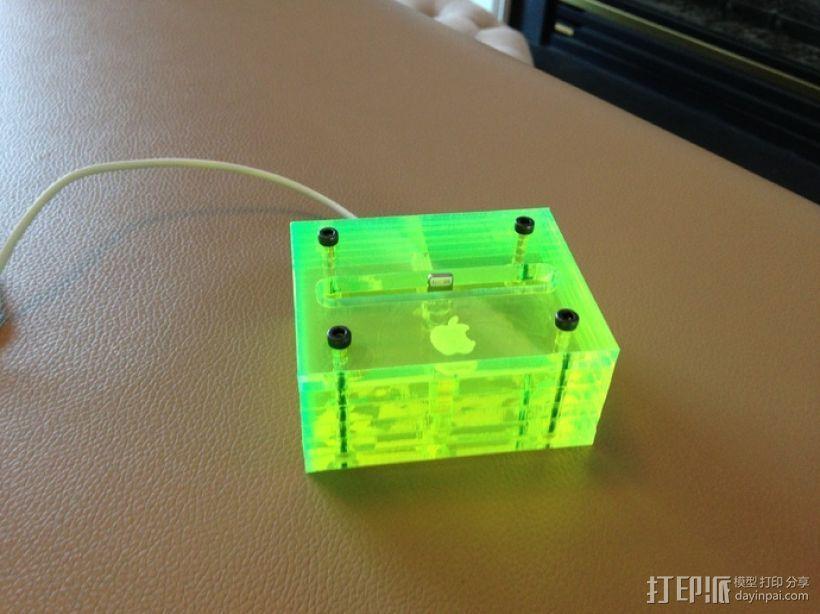 iPhone 5透明手机座 3D打印模型渲染图