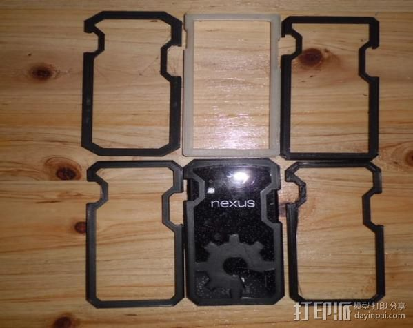 Nexus 4手机外壳 3D打印模型渲染图