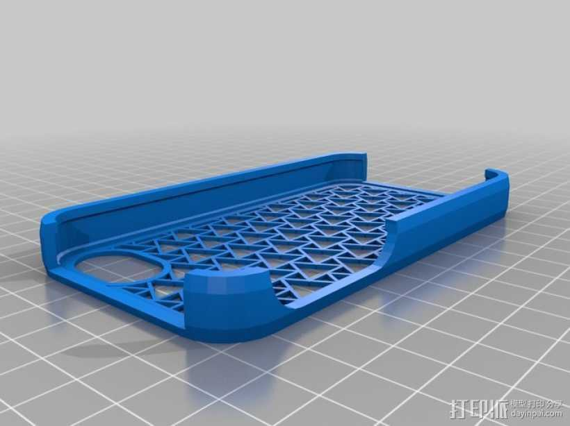 镂空iPhone手机套 3D打印模型渲染图