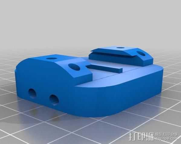 GoPro相机底座连接器 3D打印模型渲染图