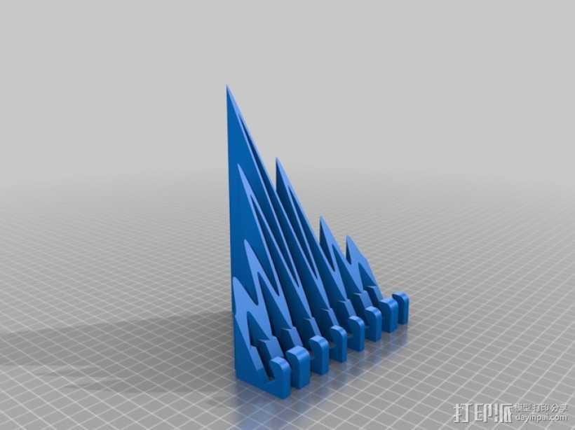 海浪形iPad支架 3D打印模型渲染图