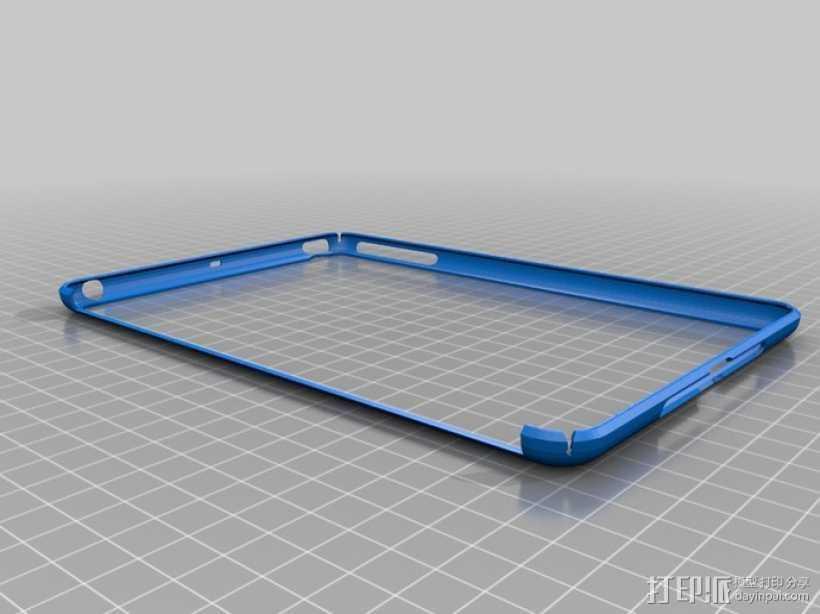 iPad Mini平板电脑外框保护壳 3D打印模型渲染图