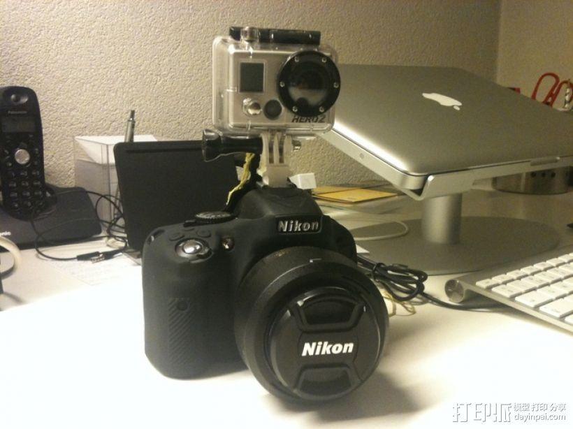 GoPro 相机热靴底座 3D打印模型渲染图
