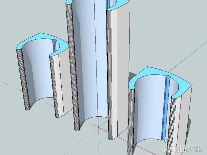 无线键盘触控板支撑 3D打印模型渲染图