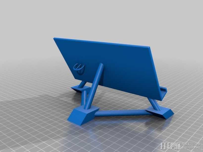 华为Ascend P7手机支架 3D打印模型渲染图