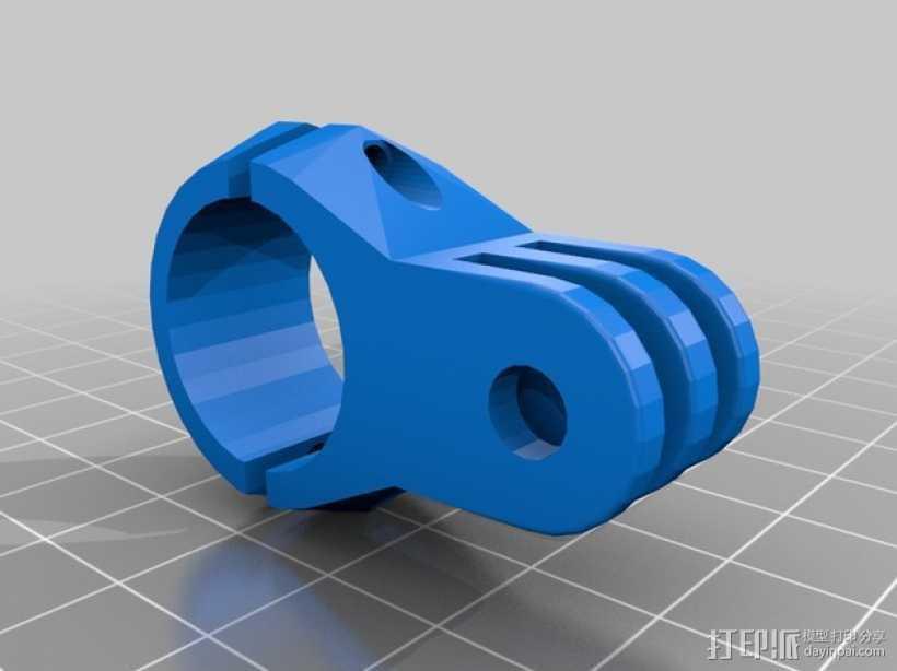 GoPro相机底座 连接器  3D打印模型渲染图