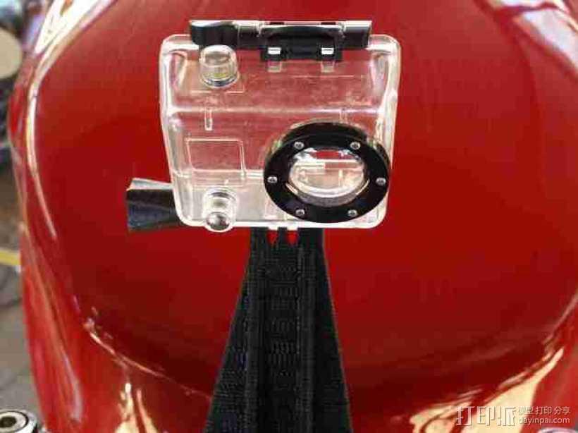 GoPro 相机底座  3D打印模型渲染图