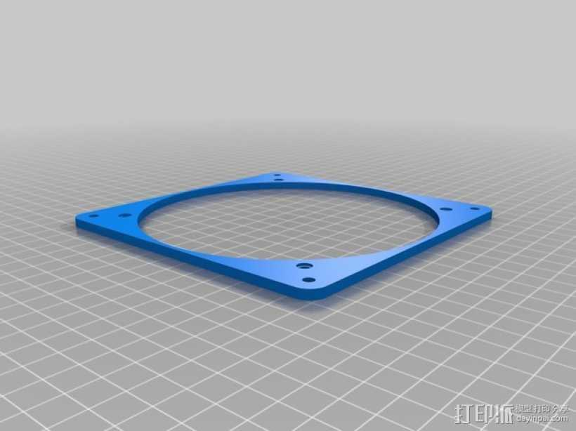风扇适配器 3D打印模型渲染图