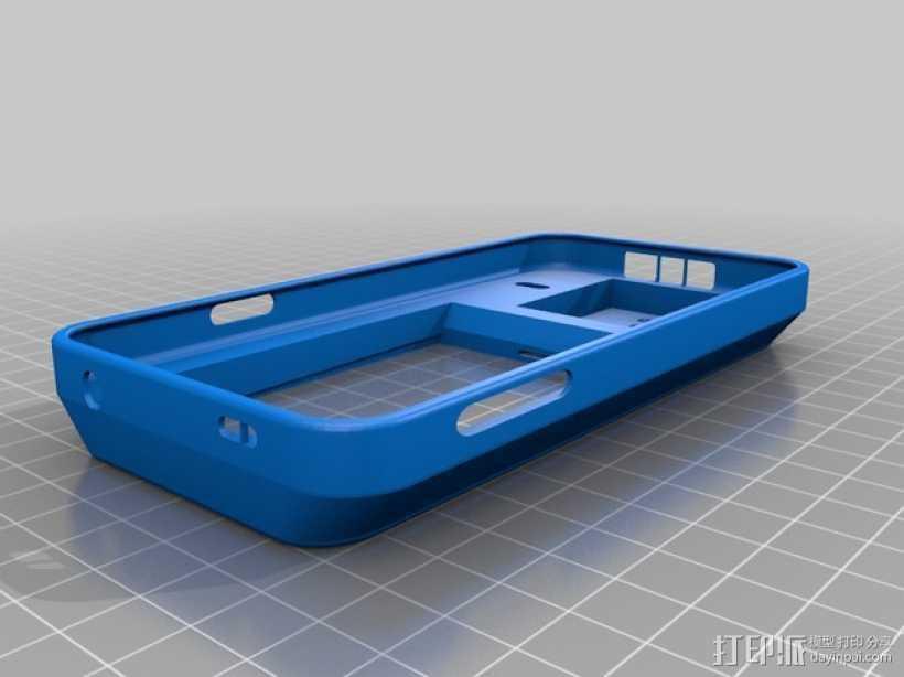 三星 Galaxy S5手机外壳 3D打印模型渲染图