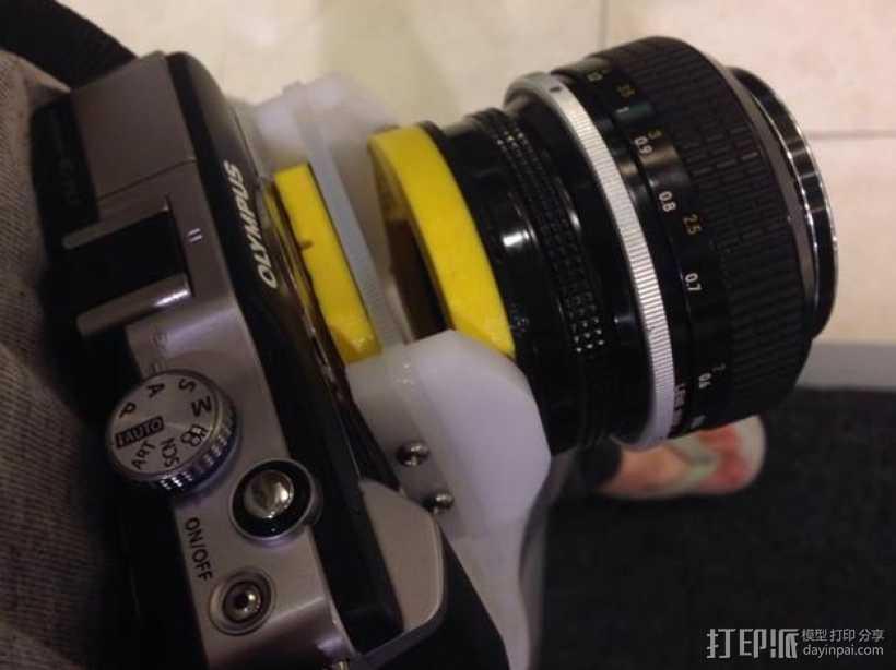 相机镜头适配器 3D打印模型渲染图
