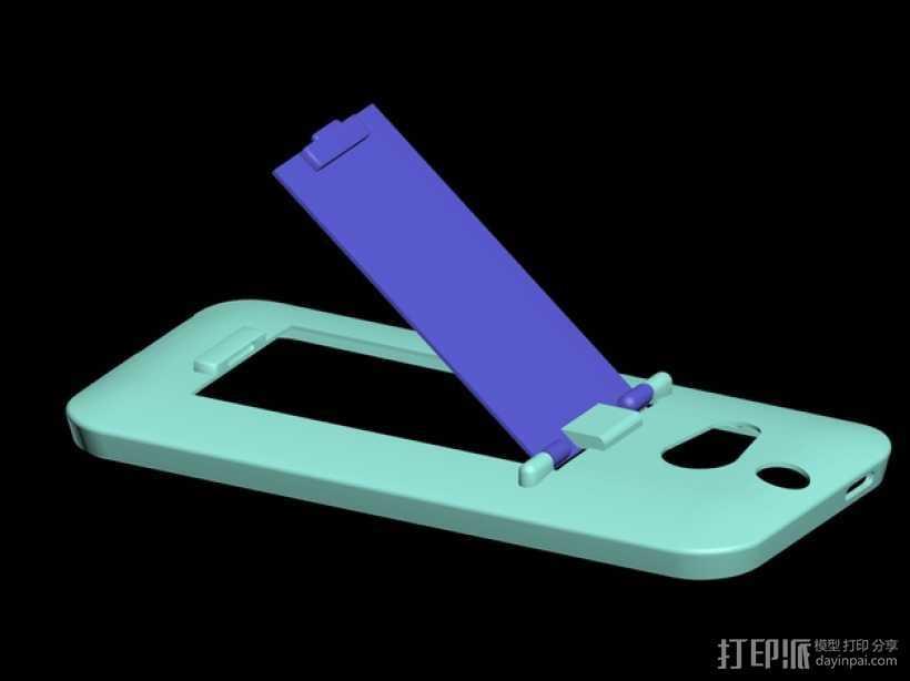 HTC One手机外壳 手机支架 3D打印模型渲染图
