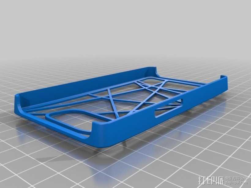 HTC HD2手机外壳 3D打印模型渲染图