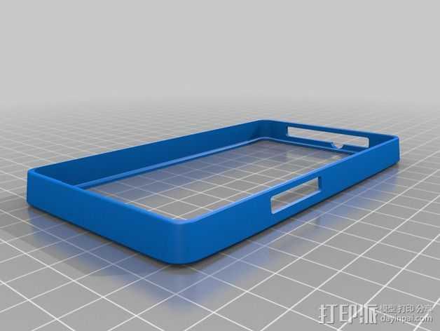 HTC HD2手机边框保护壳 3D打印模型渲染图