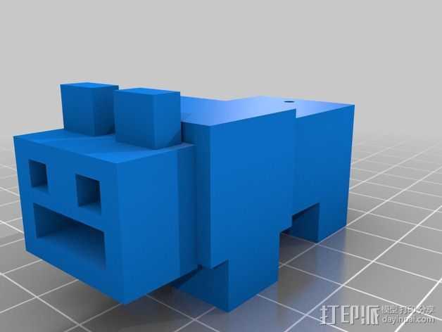 USB外壳 3D打印模型渲染图