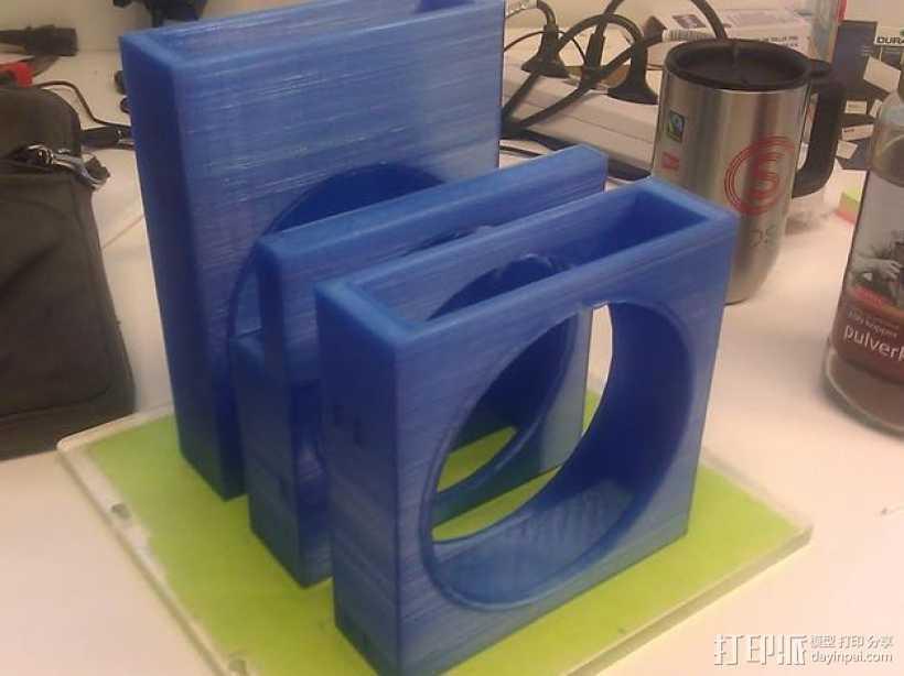 风扇罩 风扇前挡板  3D打印模型渲染图