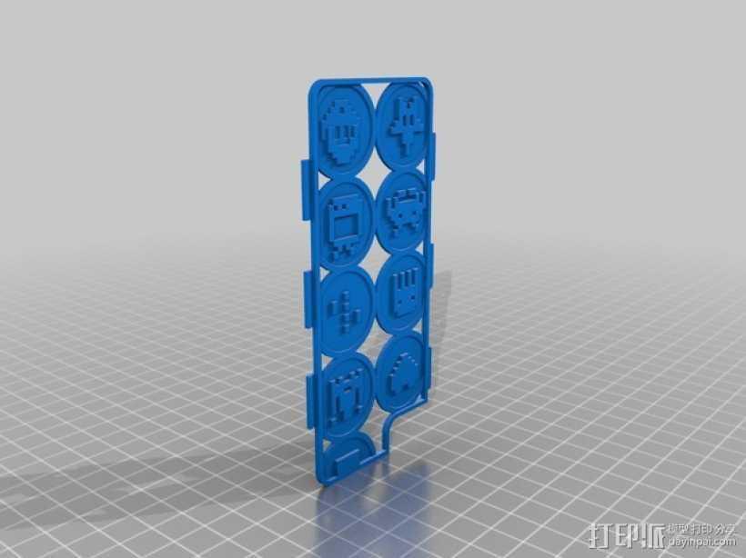 像素图形手机套 3D打印模型渲染图