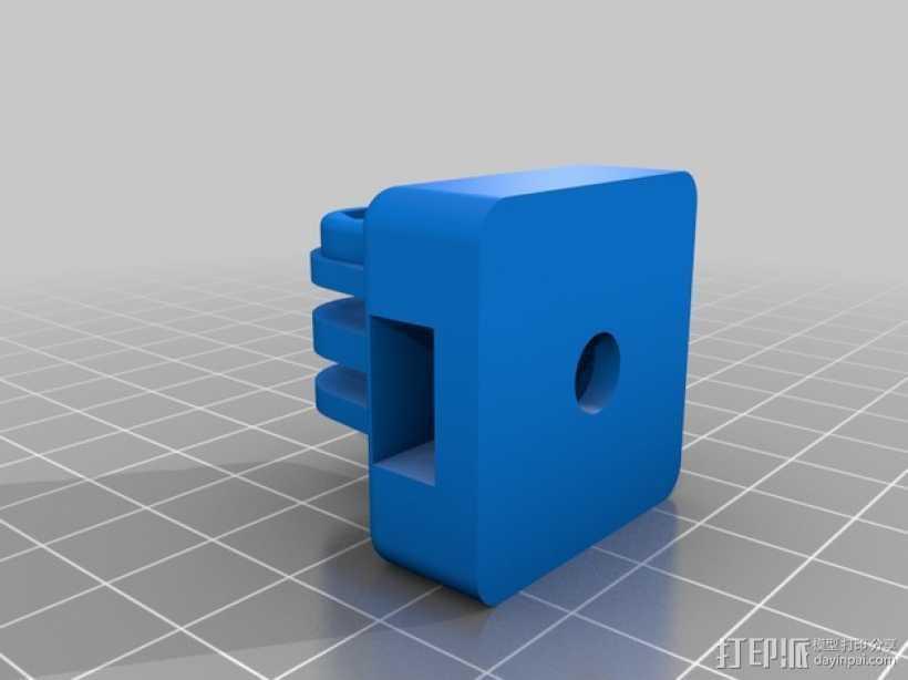 GoPro相机三角架连接器 3D打印模型渲染图