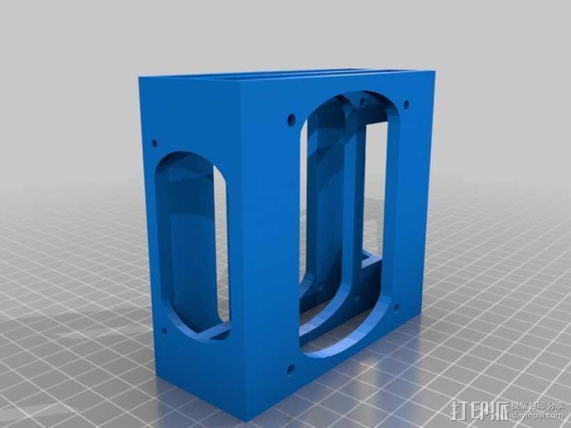 硬盘架 硬盘盒 3D打印模型渲染图