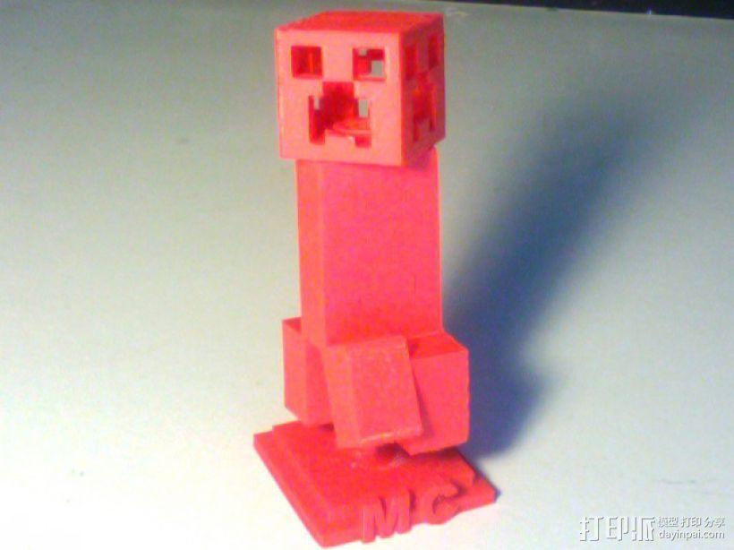 我的世界 爬行者 3D打印模型渲染图