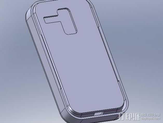 摩托罗拉 Moto X手机保护外壳 3D打印模型渲染图