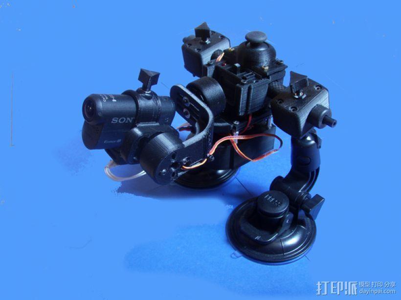 gopro2/3相机固定器/稳定器 3D打印模型渲染图