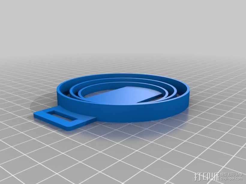 尼康相机镜头盖 收纳盖 3D打印模型渲染图