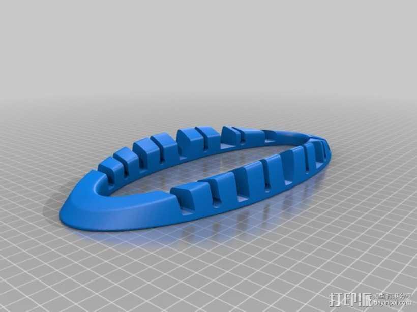 电子产品收纳架 3D打印模型渲染图