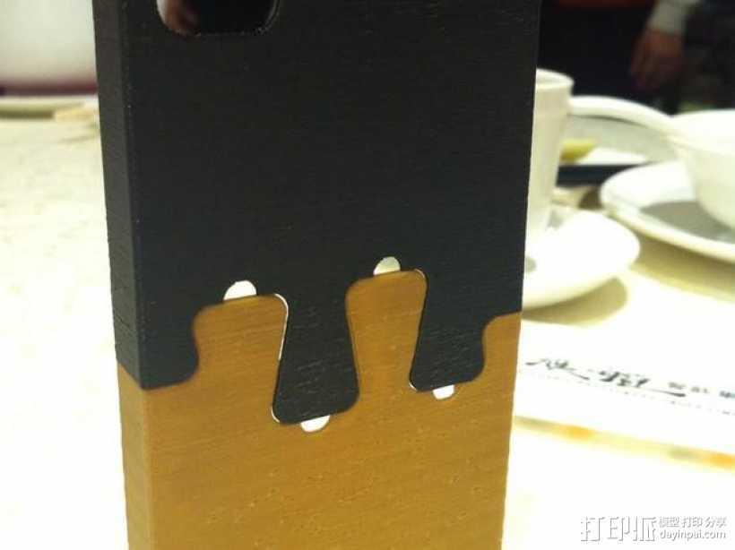 鸽子尾巴iPhone4手机保护套 3D打印模型渲染图