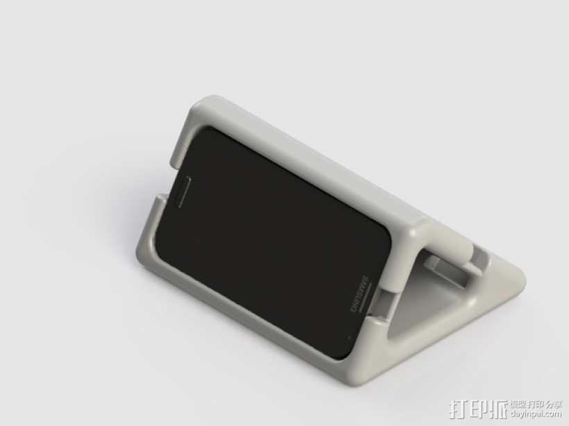 三星Galaxy S4手机架 3D打印模型渲染图