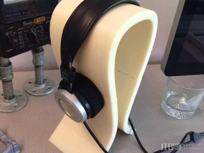 Omega头戴式耳机座 3D打印模型渲染图