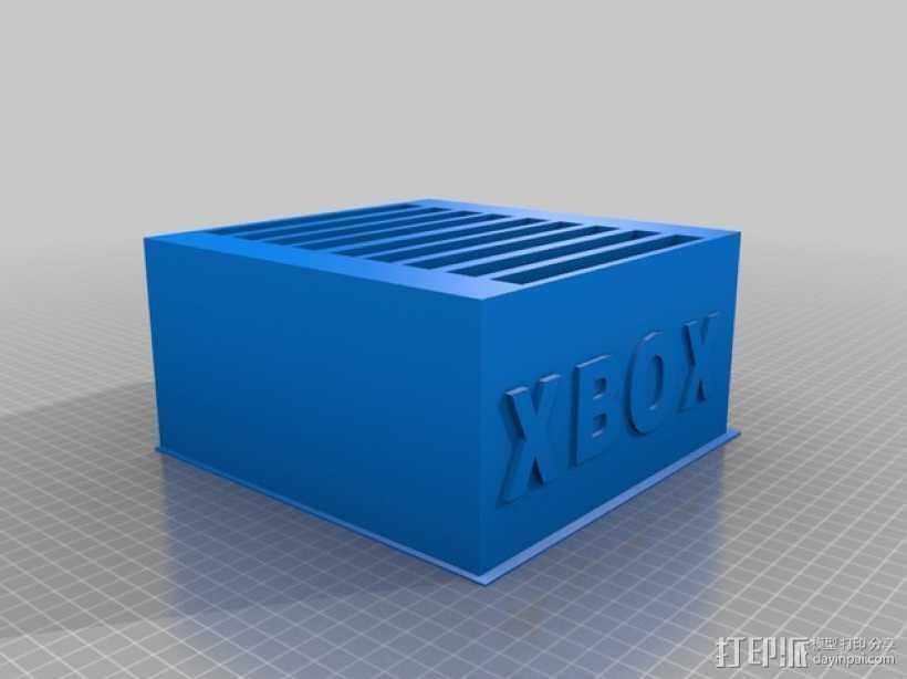 Xbox 游戏卡收纳盒 3D打印模型渲染图